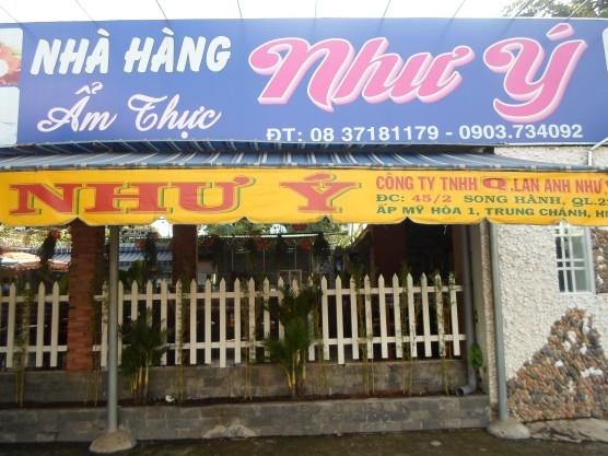 Nhà hàng Như Ý của Hóc Môn
