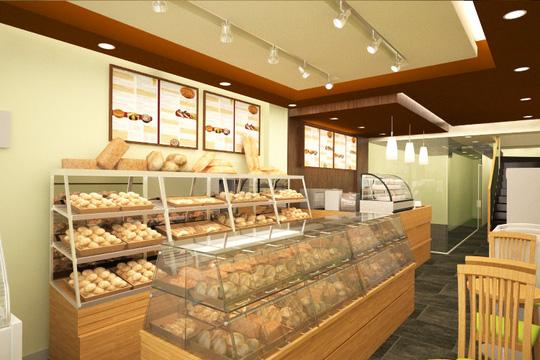 Cửa hàng chuyên về bánh của hệ thống Satra Bakery & Café