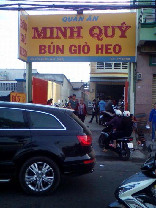 Quán bún giò heo Minh Quý