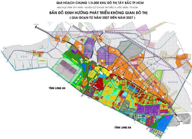 Bản đồ định hướng phát triển không gian đô thị phía Tây Bắc TP HCM