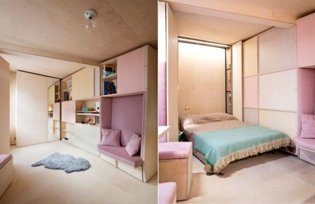 Giường âm tường thiết kế dành cho các không gian hạn