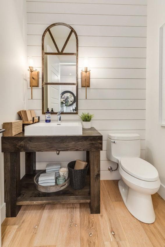 Sử dụng gỗ ốp cho phòng tắm