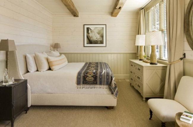 Sử dụng gỗ ốp cho phòng ngủ