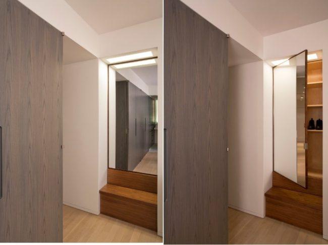Những cánh cửa trong không gian hẹp- gương luôn là lựa chọn tối ưu