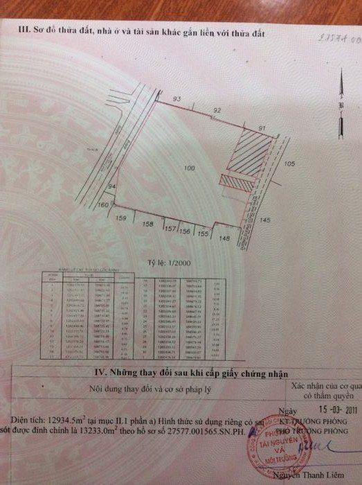 Hiện trạng vị trí nhà và đất cần bán. Mặt tiền đường Dương Công Khi