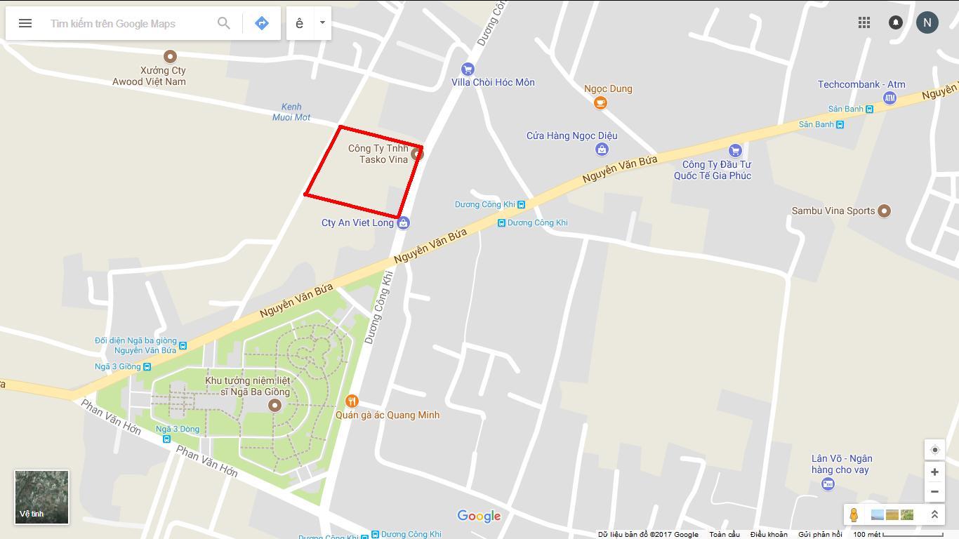 Bản đồ vị trí khu nhà và đất cần bán