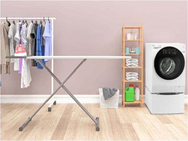 Tạo không gian giặt ủi riêng
