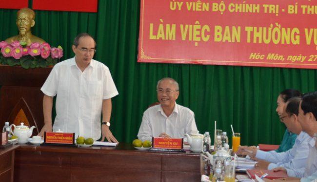 Bí thư Thành ủy TP.HCM, làm việc với Ban thường vụ Huyện ủy Hóc Môn