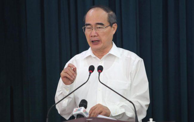 Bí thư Thành ủy Nguyễn Thiện Nhân phát biểu tại hội nghị